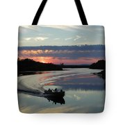 Day's End On The Sebec River Tote Bag