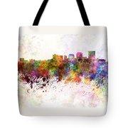 Dayton Skyline In Watercolor Background Tote Bag