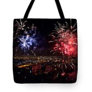 Dazzling Fireworks II Tote Bag by Ray Warren