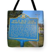 De-kc81 Site Of Duck Creek Presbyterian Church Tote Bag