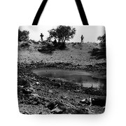 Dead Cattle Contaminated Water Hole Once In 100 Year's Drought Near Sells Arizona Tohono O'odham  Tote Bag