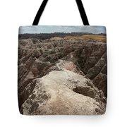 Dead End Trail In Badland National Park South Dakota Tote Bag