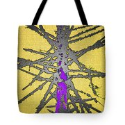Dead Fir Tree Abstract Tote Bag