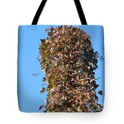 Dead Tall Stump Covered With New Leaves Tote Bag