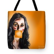 Dead Tired Worker Sick From Hard Work Tote Bag