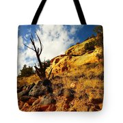 Dead Tree Against The Blue Sky Tote Bag