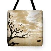 Dead Tree And Sea Tote Bag