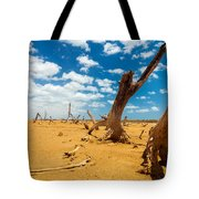Dead Trees In A Desert Wasteland Tote Bag
