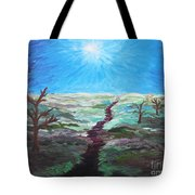 Dead Trees On The Moor Tote Bag