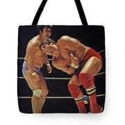 Dean Ho Vs Don Muraco In Old School Wrestling From The Cow Palace Tote Bag