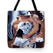 Death Due Us Parts Tote Bag