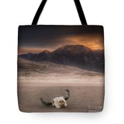 Death In The Desert Tote Bag