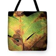 Death Of A Leaf Tote Bag