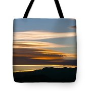 Death Valley Evening Sky Tote Bag
