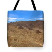 Death Valley Np Zabransky Point  Tote Bag