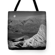 Death Valley Zabriskie Point Bw Img 0525psd Tote Bag