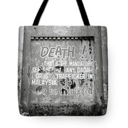 Death Warning Tote Bag