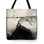 Death With Two Children Carried On His Scythe Tote Bag by Michel Fingesten