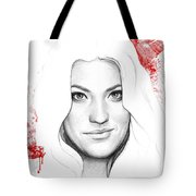 Debra Morgan Portrait - Dexter Tote Bag by Olga Shvartsur