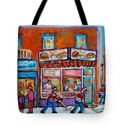 Decarie Hot Dog Restaurant Ville St. Laurent Montreal  Tote Bag