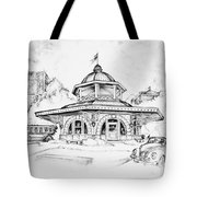 Decatur Transfer House Tote Bag by Scott and Dixie Wiley