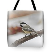 December Chickadee Tote Bag