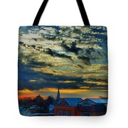 December Sunrise In Annapolis Tote Bag