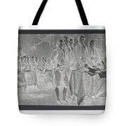 Declaration Of Independence In Negative Tote Bag