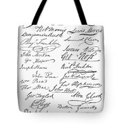 Declaration: Signatures Tote Bag by Granger