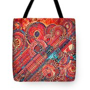 Deco Flower Swirls Tote Bag