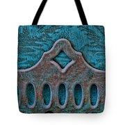 Deco Metal Blue Tote Bag