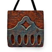 Deco Metal Red Tote Bag