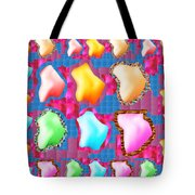 Deco Pattern Patchup Collage Crystals Jewels Rose Flower Petals Tote Bag