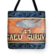 Decor Element With Fish. Maldives Tote Bag