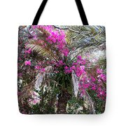 Decorated Palm Tote Bag