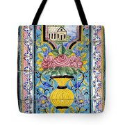 Decorated Tile Work At The Golestan Palace In Tehran Iran Tote Bag