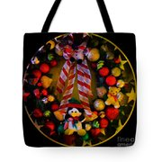Decorated Wreath Tote Bag