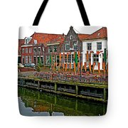 Decorations For Orange Day To Celebrate The Queen's Birthday In Enkhuizen-netherlands Tote Bag