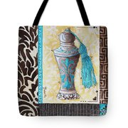 Decorative Bathroom Bath Art Original Perfume Bottle Painting Luxe Perfume By Madart Tote Bag