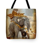 Decorative Elephant Tote Bag by Adrian Evans
