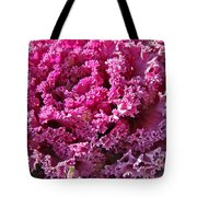 Decorative Fancy Pink Kale Tote Bag