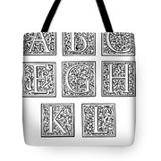 Decorative Initials, C1600 Tote Bag