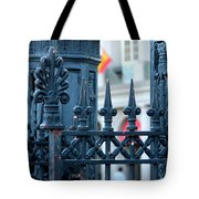 Decorative Iron Fence In New Orleans Tote Bag