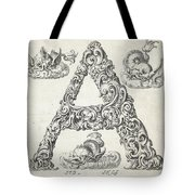 Decorative Letter Type A 1650 Tote Bag