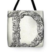 Decorative Letter Type D 1650 Tote Bag