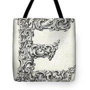 Decorative Letter Type E 1650 Tote Bag