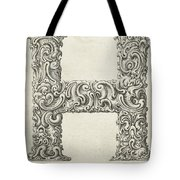 Decorative Letter Type H 1650 Tote Bag