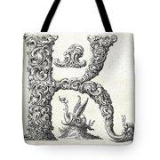 Decorative Letter Type K 1650 Tote Bag