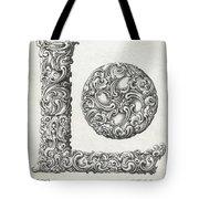 Decorative Letter Type L 1650 Tote Bag