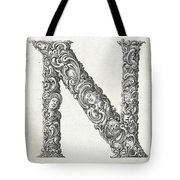 Decorative Letter Type N 1650 Tote Bag